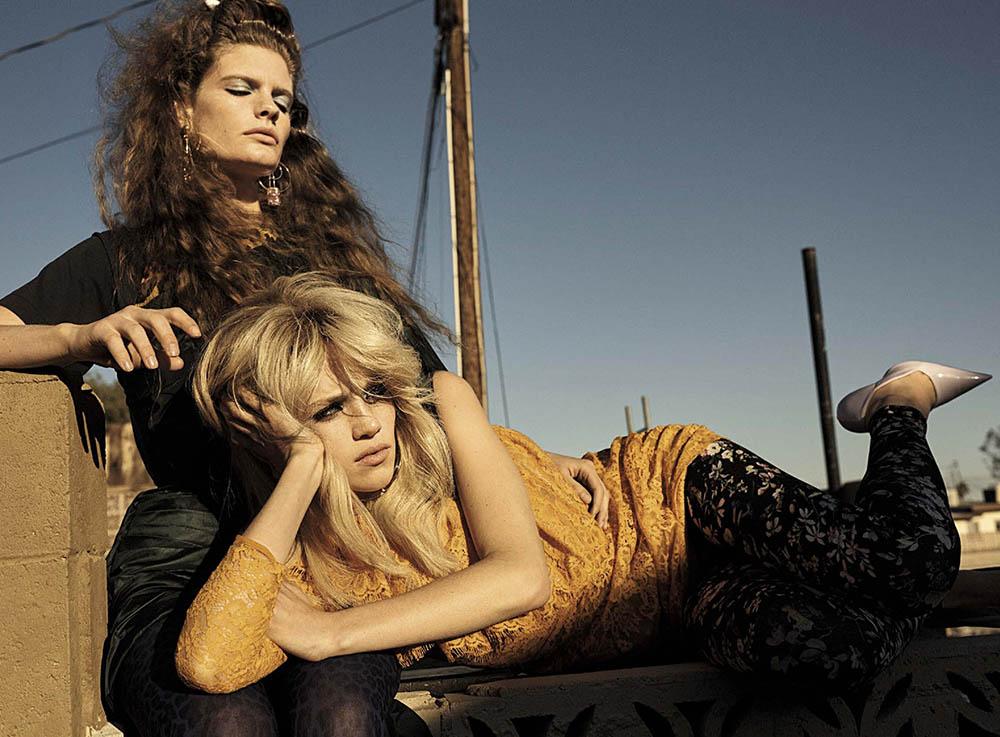 Carolina Burgin and Rebecca Leigh Longendyke by Josh Olins for Vogue Italia May 2019