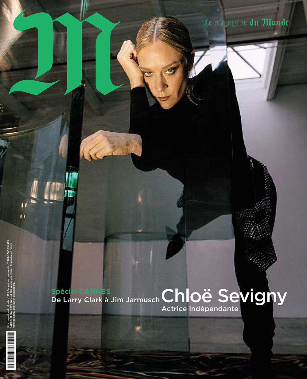 Chloë Sevigny covers M Le magazine du Monde May 11th, 2019 by Brianna Capozzi