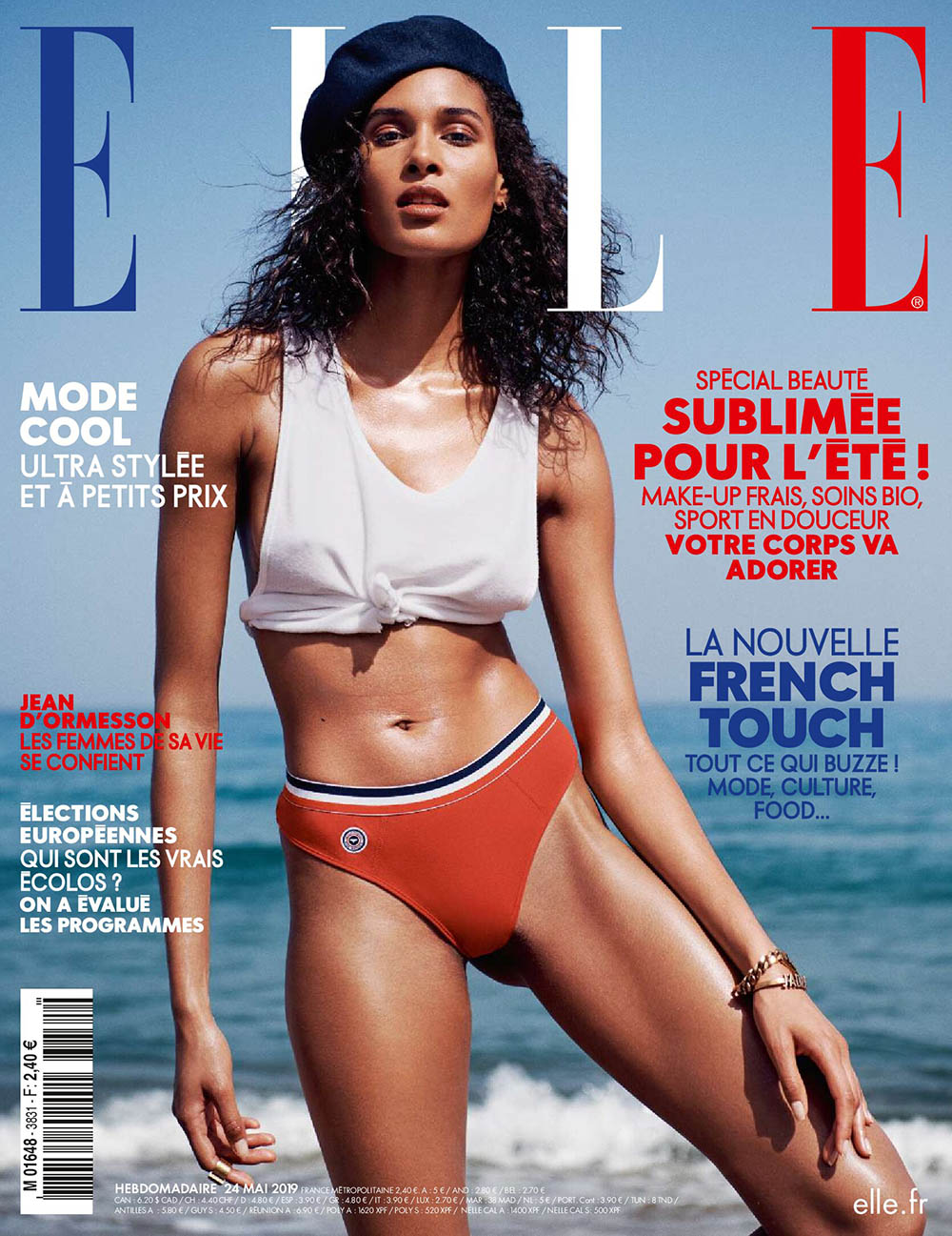 Cindy Bruna covers Elle France May 24th, 2019 by Jan Welters