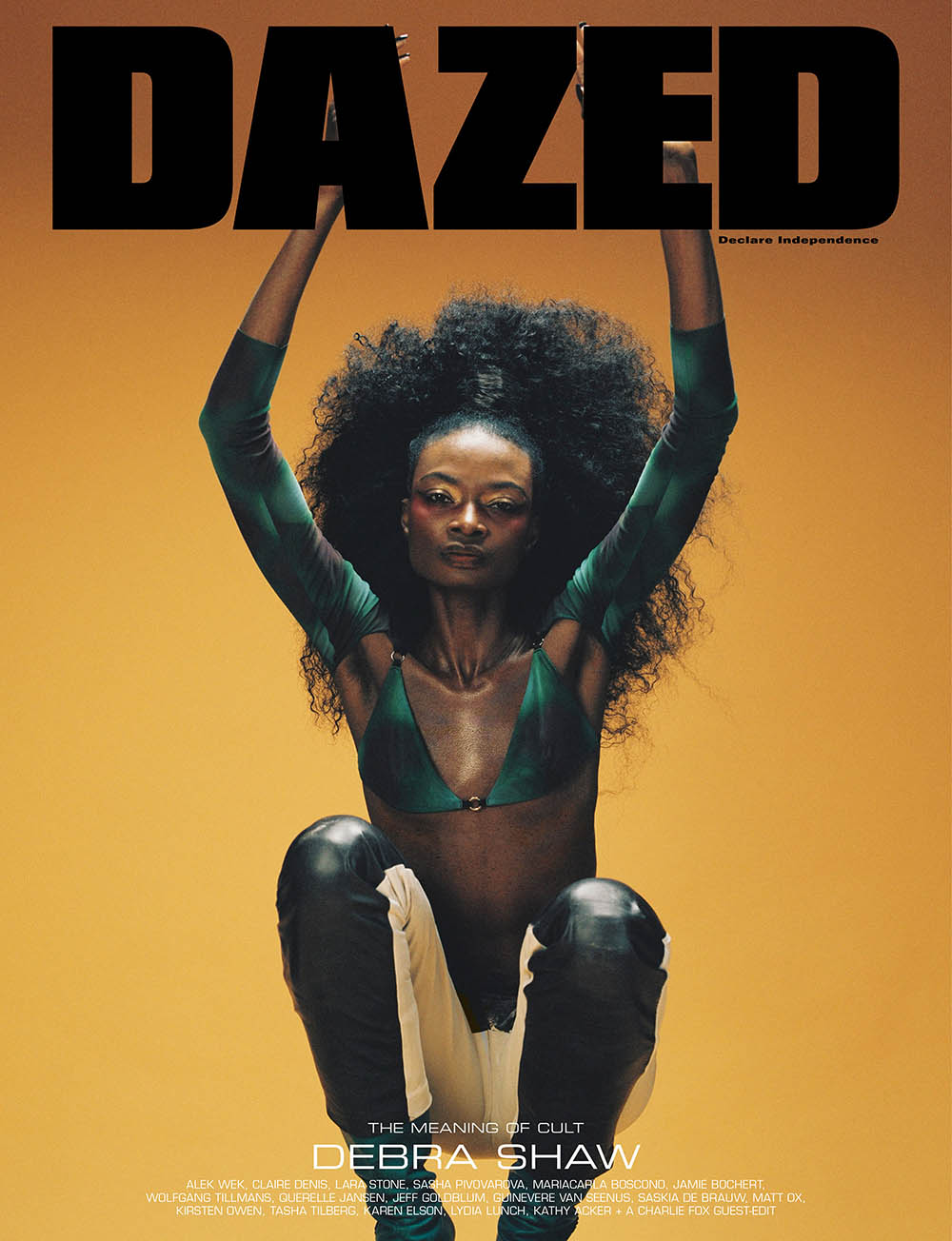 Debra Shaw covers Dazed Magazine Spring Summer 2019 by Campbell Addy