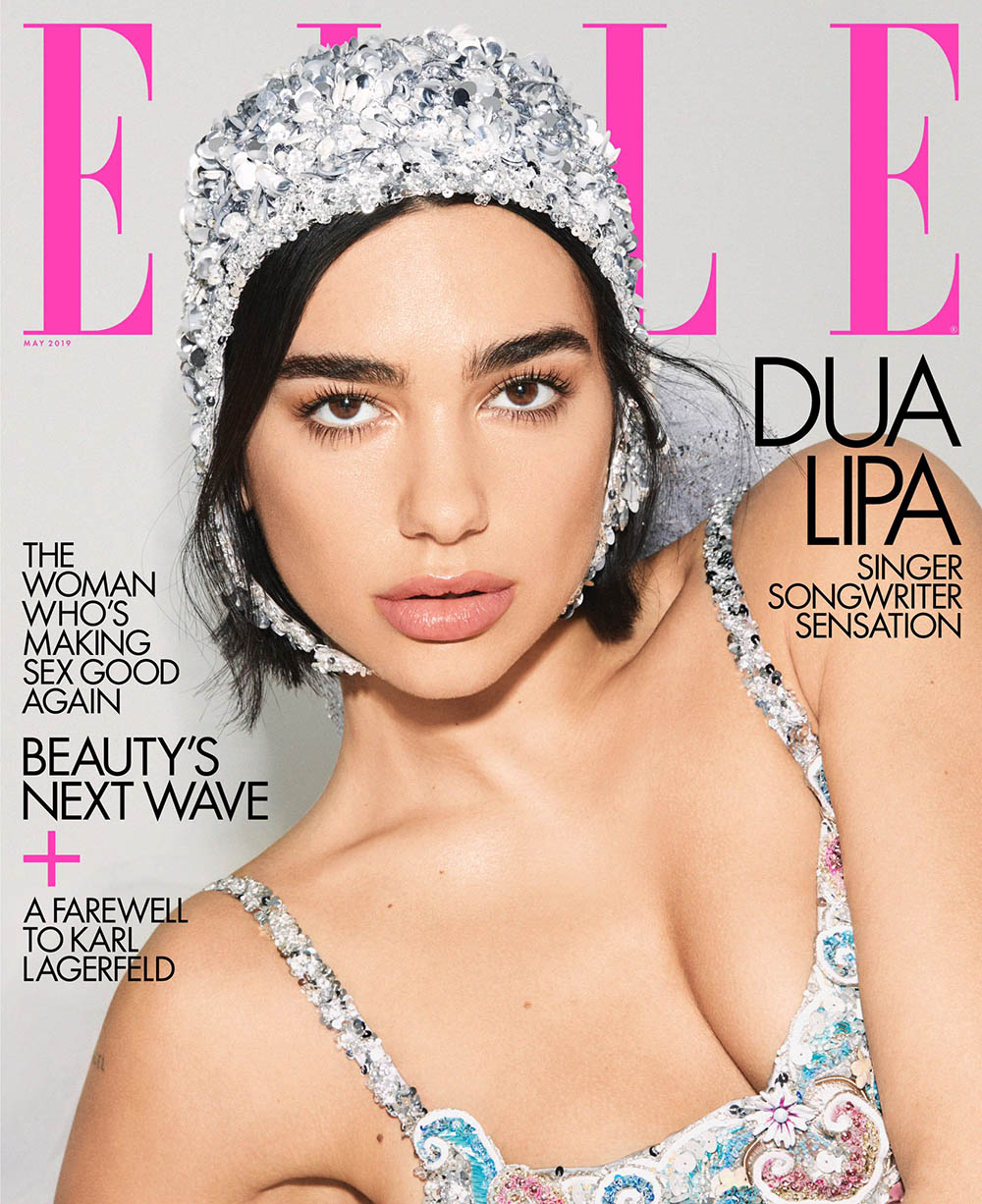 Dua Lipa covers Elle US May 2019 by Carin Backoff