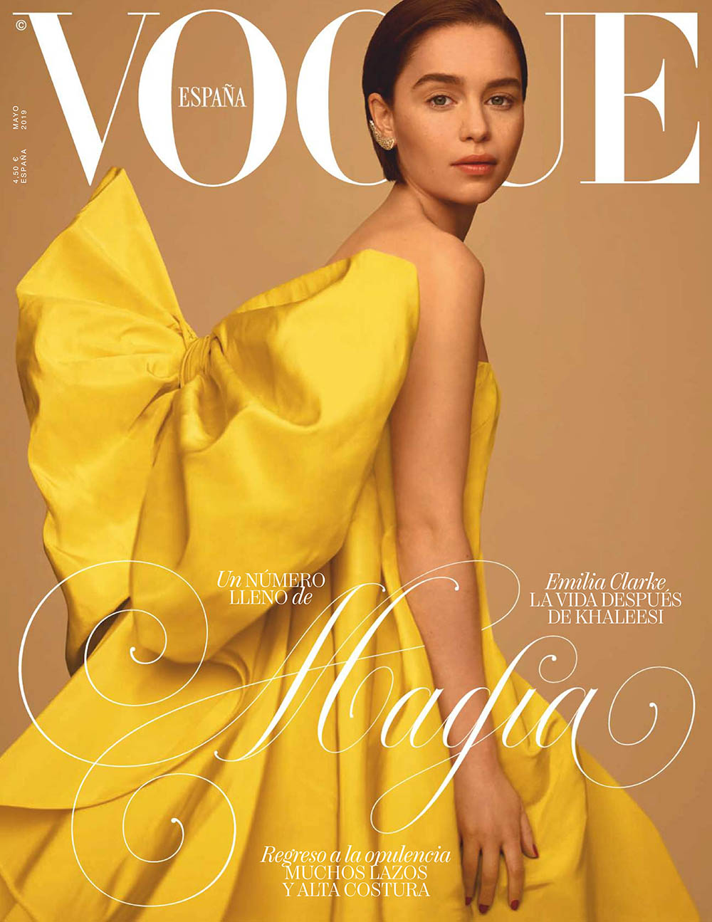 Emilia Clarke covers Vogue Spain May 2019 by Thomas Whiteside