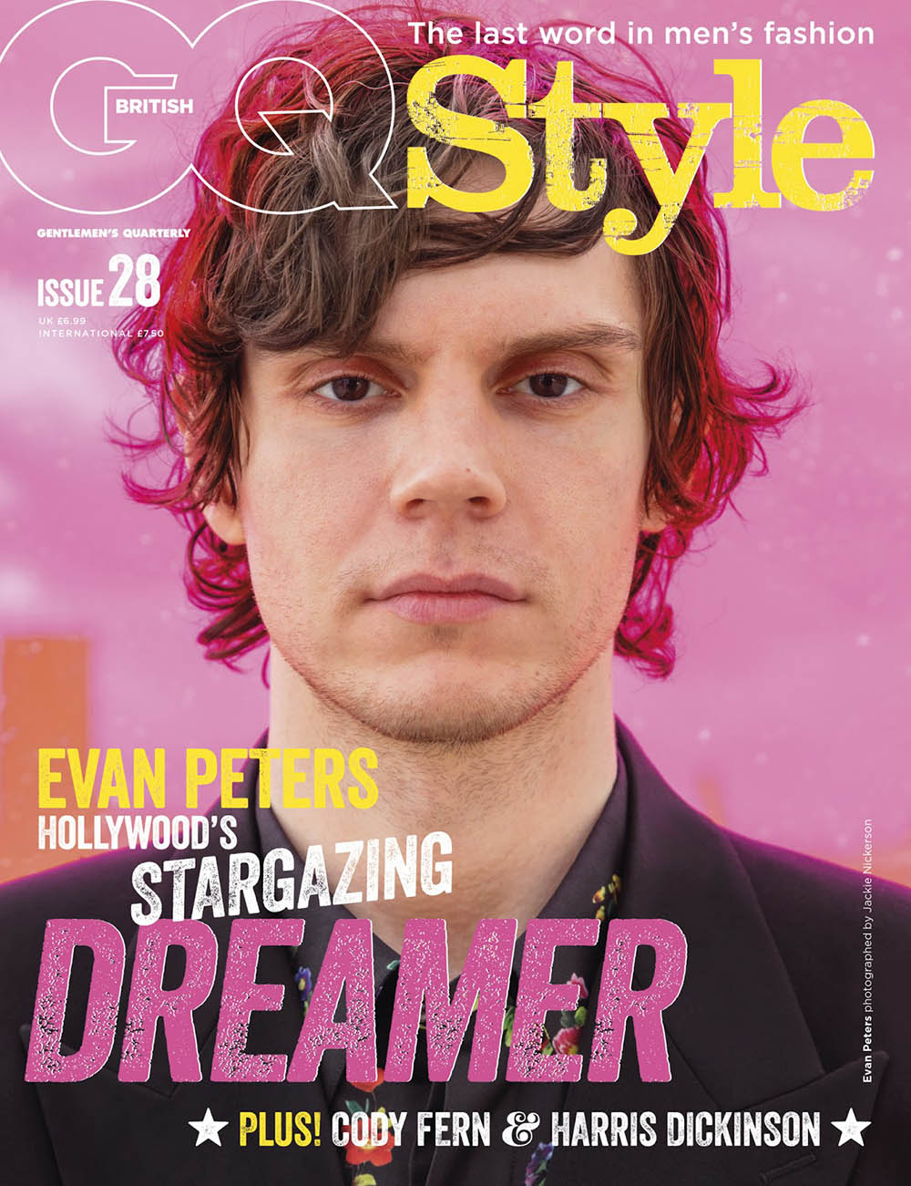 Evan Peters covers British GQ Style Spring Summer 2019 by Jackie Nickerson