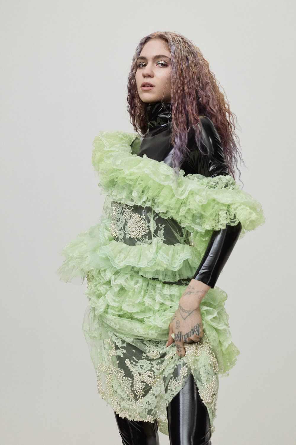 Grimes covers Flaunt Magazine Issue 165 by Zoey Grossman