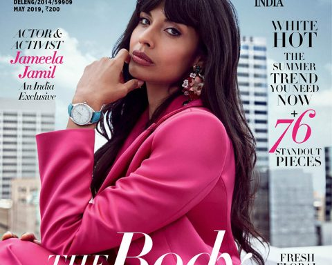 Jameela Jamil covers Harper's Bazaar India May 2019 by Jennifer Massaux