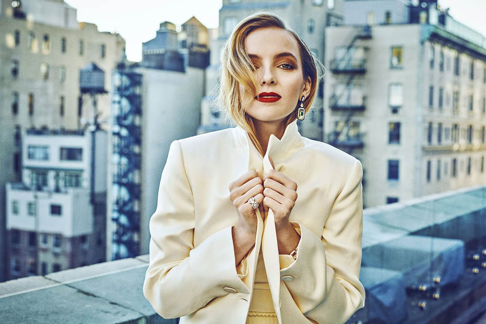 Jodie Comer covers Town & Country UK May 2019 by Marc Hom