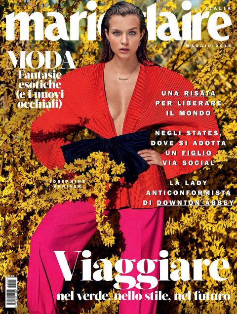 Josephine Skriver covers Marie Claire Italia May 2019 by Marcin Tyszka