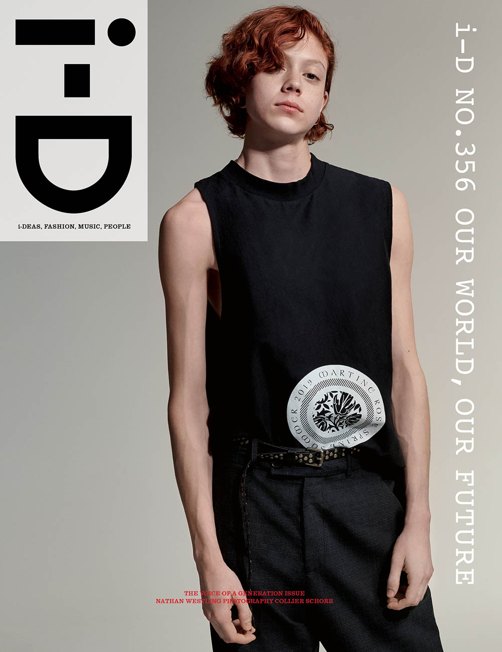 Nathan Westling covers i-D Magazine Summer 2019 by Collier Schorr