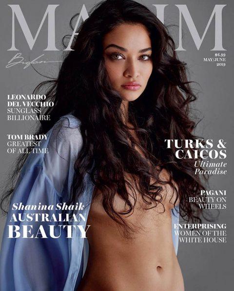 Shanina Shaik covers Maxim US May June 2019 by Gilles Bensimon