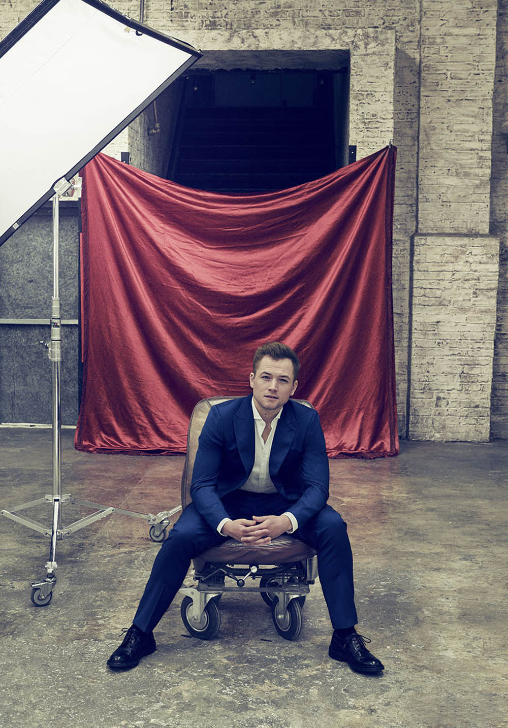 Taron Egerton covers The Hollywood Reporter May 8th, 2019 by Ruven Afanador