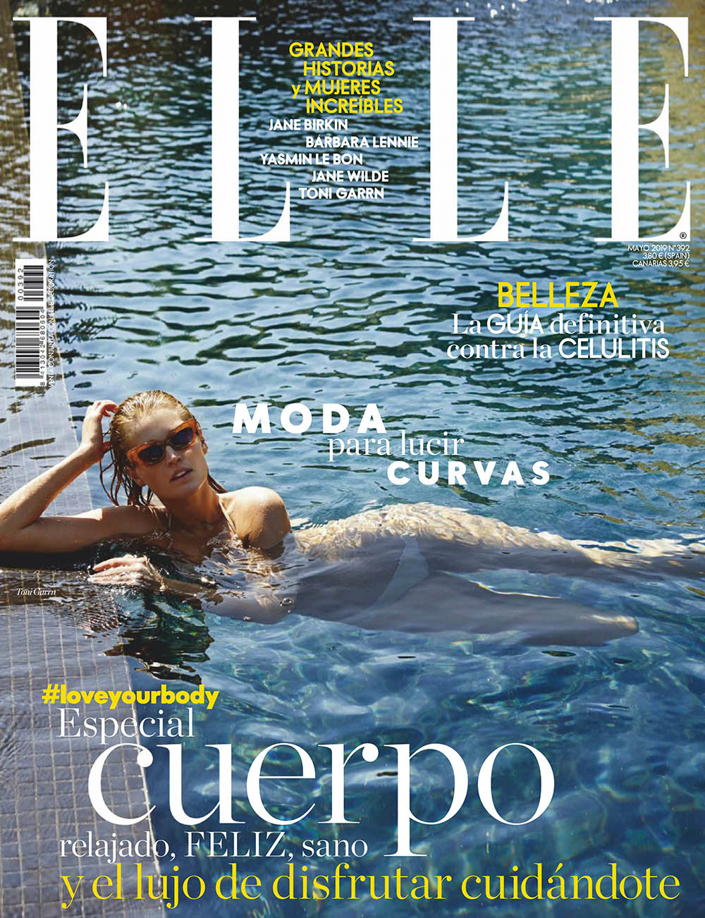 Toni Garrn covers Elle Spain May 2019 by Xavi Gordo