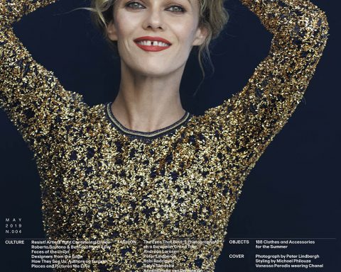 Vanessa Paradis covers L'Uomo Vogue May 2019 by Peter Lindbergh