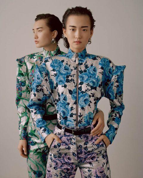 Wangy and Chunjie Liu by Zoltan Tombor for Vogue Hong Kong May 2019