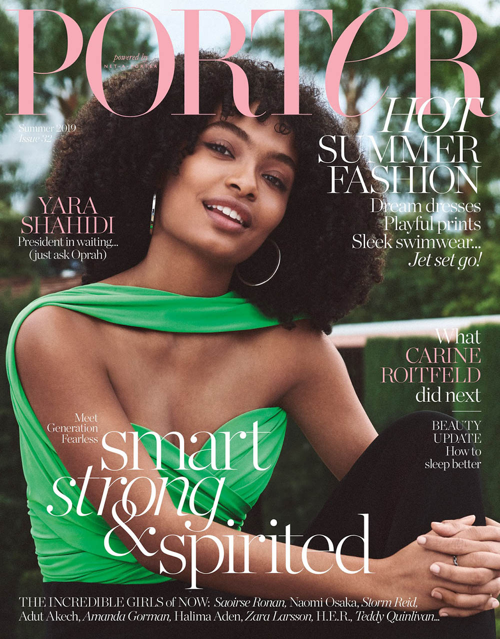 Yara Shahidi covers Porter Magazine Summer 2019 by Cass Bird