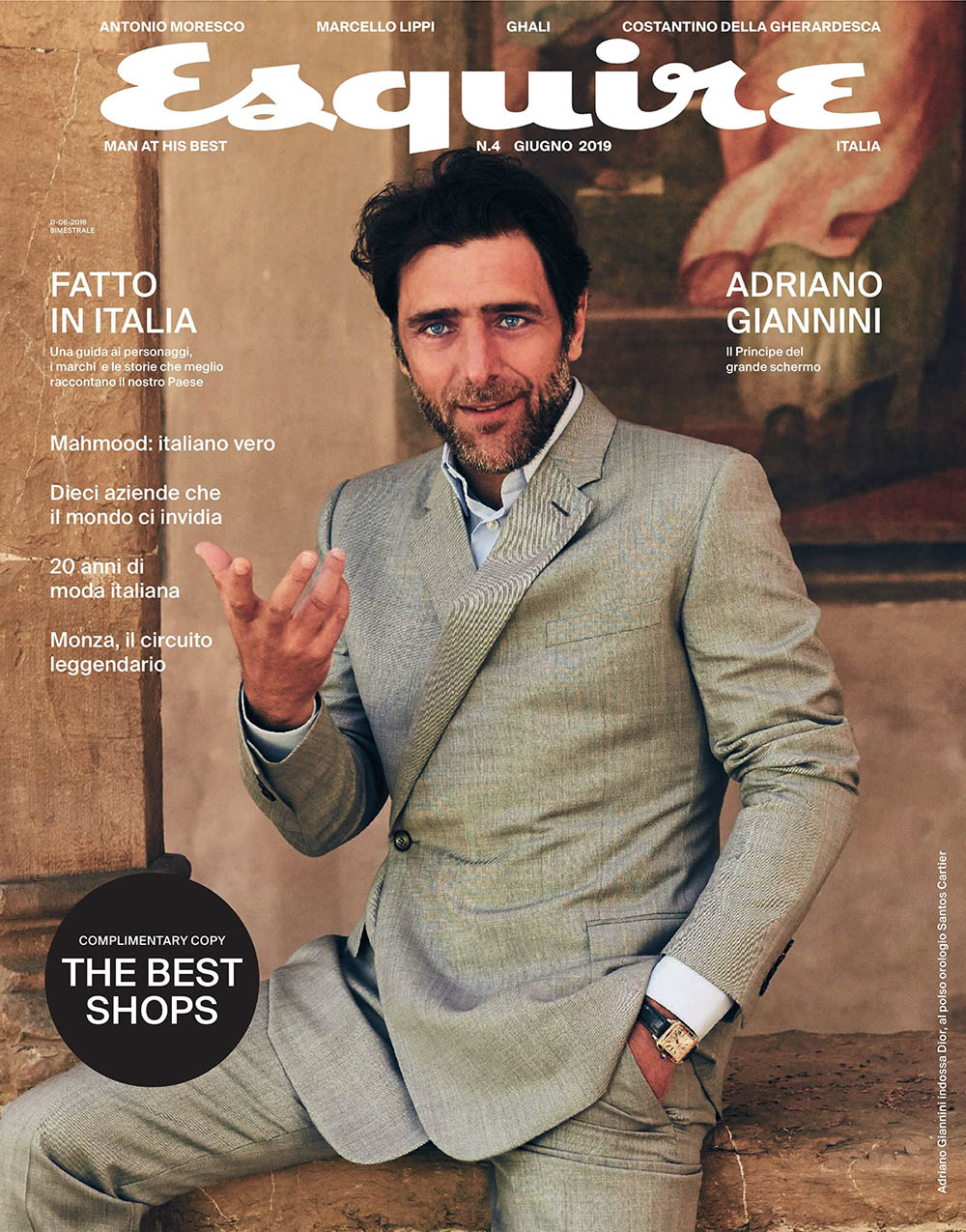 Adriano Giannini covers Esquire Italia June 2019 by Lorenzo Bringheli