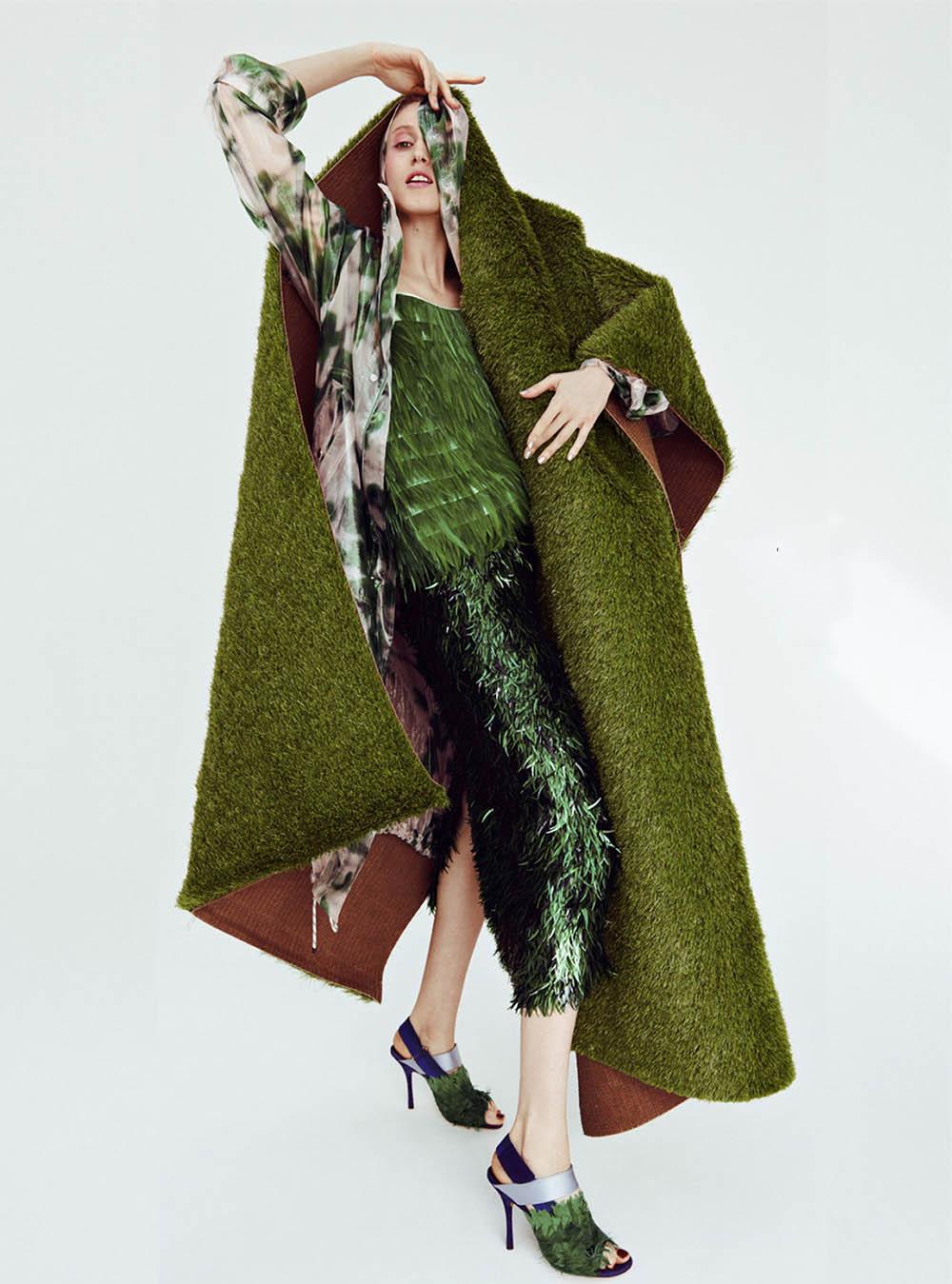 Anna Cleveland covers Harper's Bazaar Netherlands June 2019 by Petrovsky & Ramone