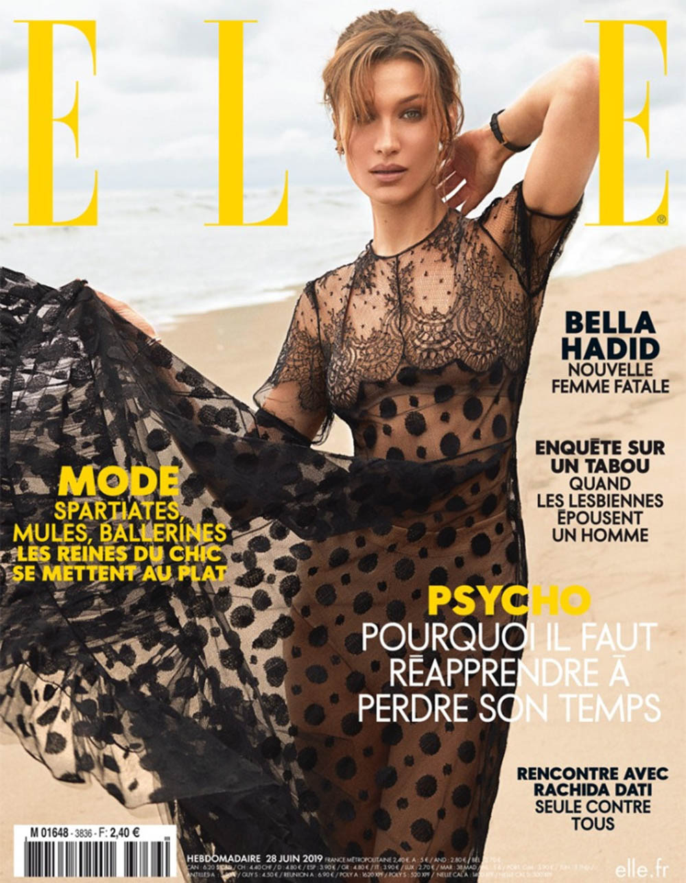 Bella Hadid covers Elle France June 28th, 2019 by Zoey Grossman