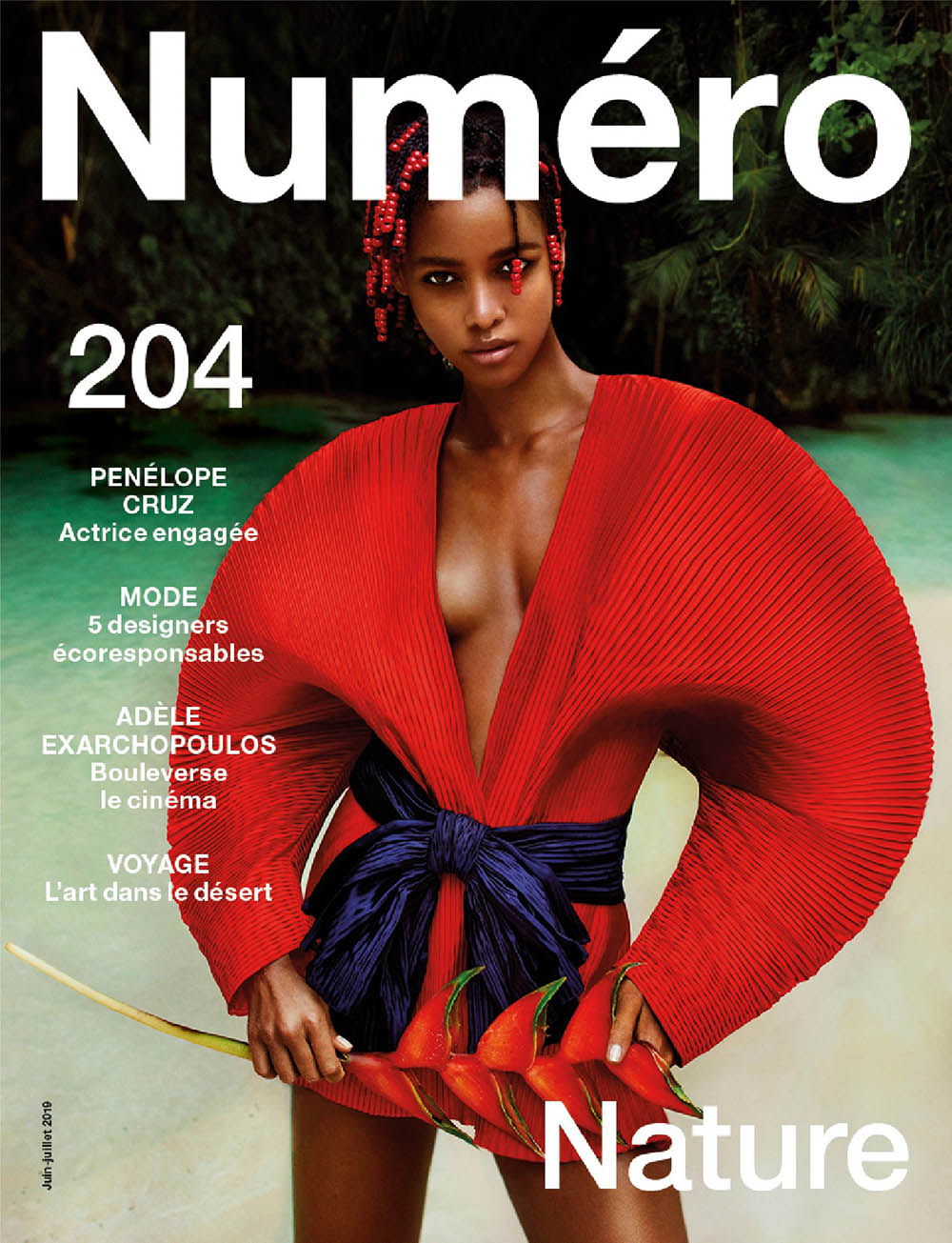 Blesnya Minher covers Numéro June July 2019 by Txema Yeste