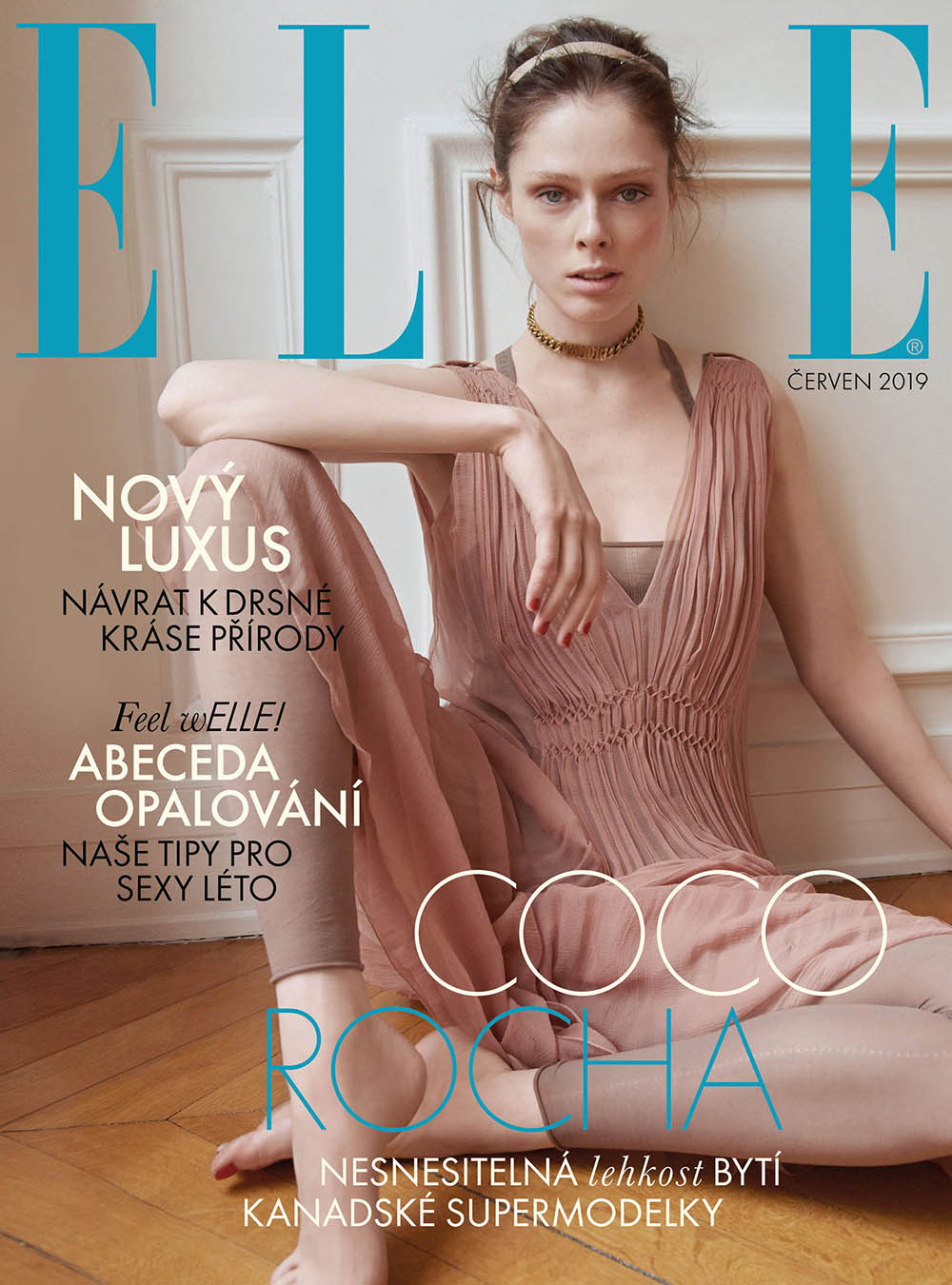 Coco Rocha covers Elle Czech June 2019 by Andreas Ortner
