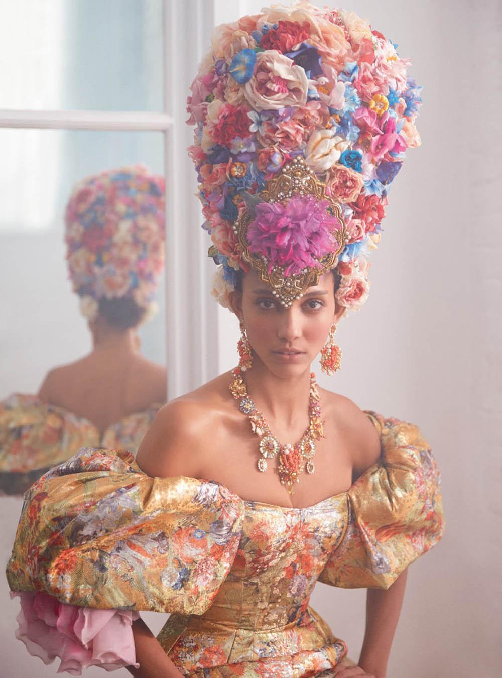 Cora Emmanuel by Richard Phibbs for Harper's Bazaar UK June 2019
