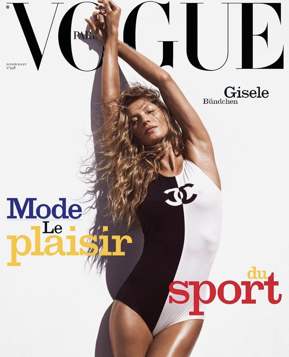 Gisele Bündchen covers Vogue Paris June July 2019 by Mikael Jansson