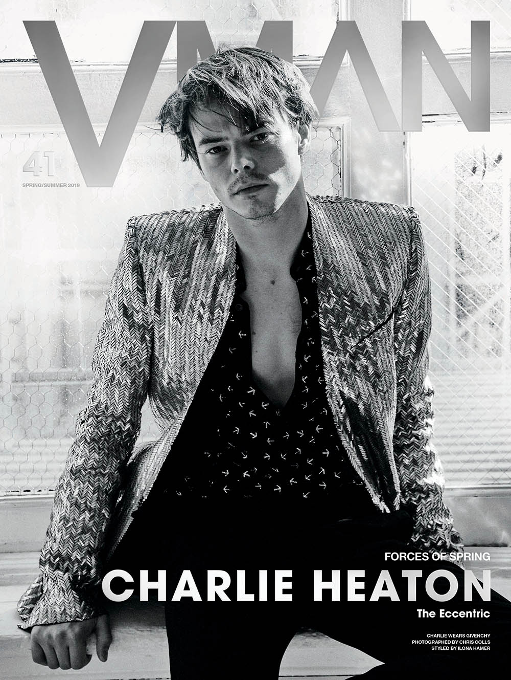 Hero Fiennes-Tiffin, Mark Ronson and Charlie Heaton cover VMan Spring Summer 2019 by Chris Colls