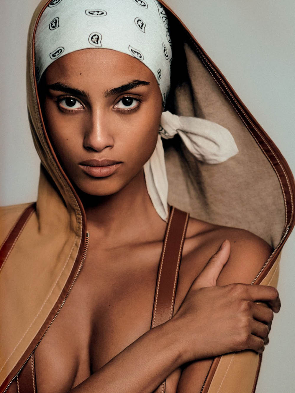 Imaan Hammam covers Vogue Russia June 2019 by Chris Colls