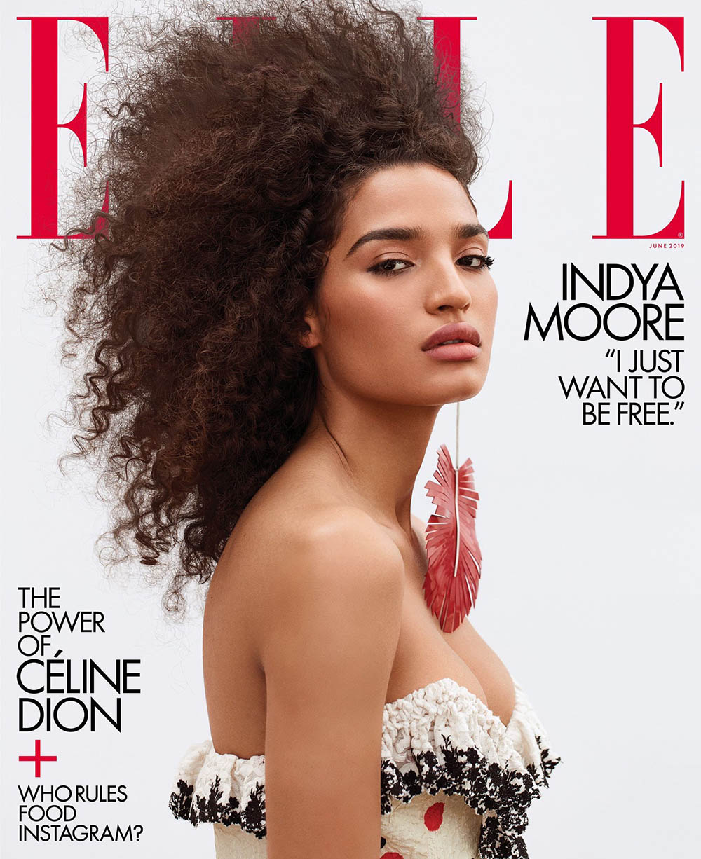 Indya Moore covers Elle US June 2019 by Zoey Grossman