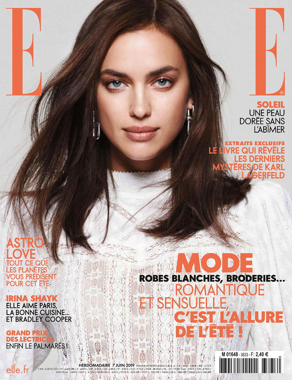 Irina Shayk covers Elle France June 7th, 2019 by Jan Welters