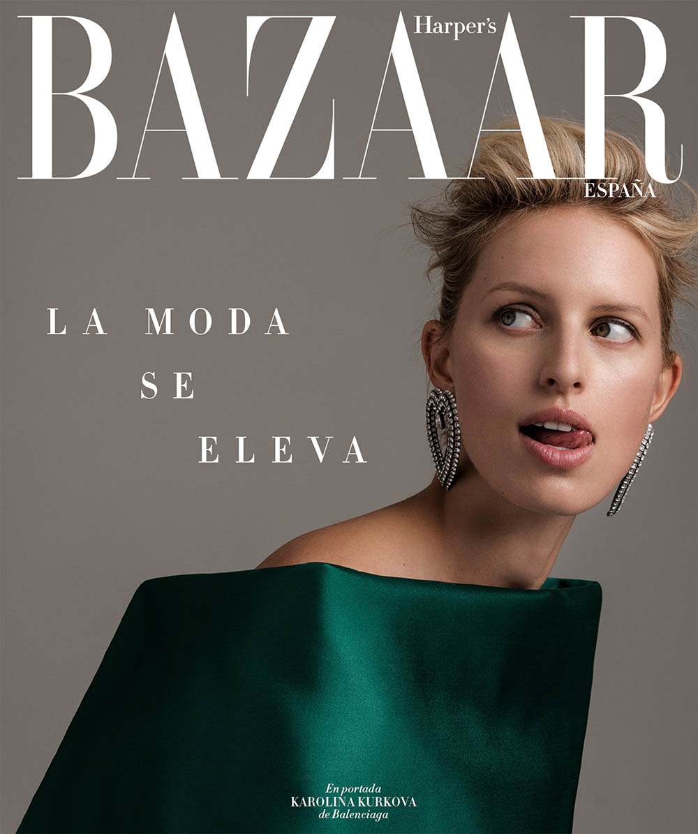 Karolina Kurkova covers Harper's Bazaar Spain June 2019 by Juankr