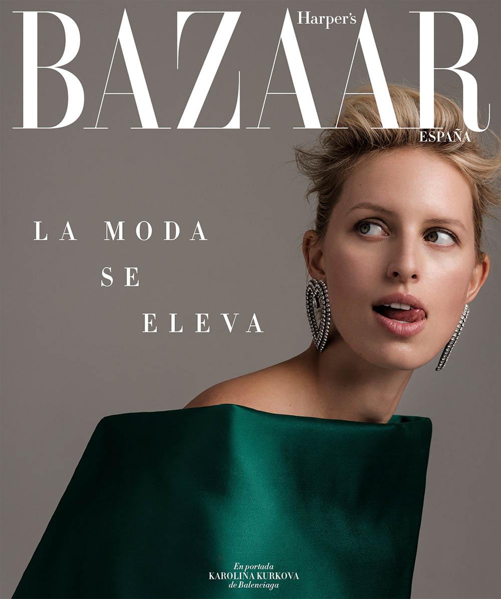 Image result for Karolina Kurkova covers Harper's Bazaar Spain June '19 issue