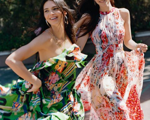 Kendall Jenner and Vittoria Ceretti by Oliver Hadlee Pearch for Vogue US June 2019