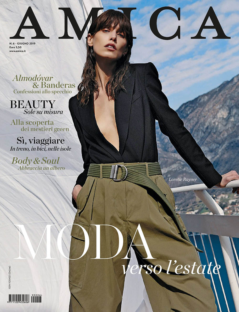 Lorelle Rayner covers Amica Magazine June 2019 by Jacopo Moschin