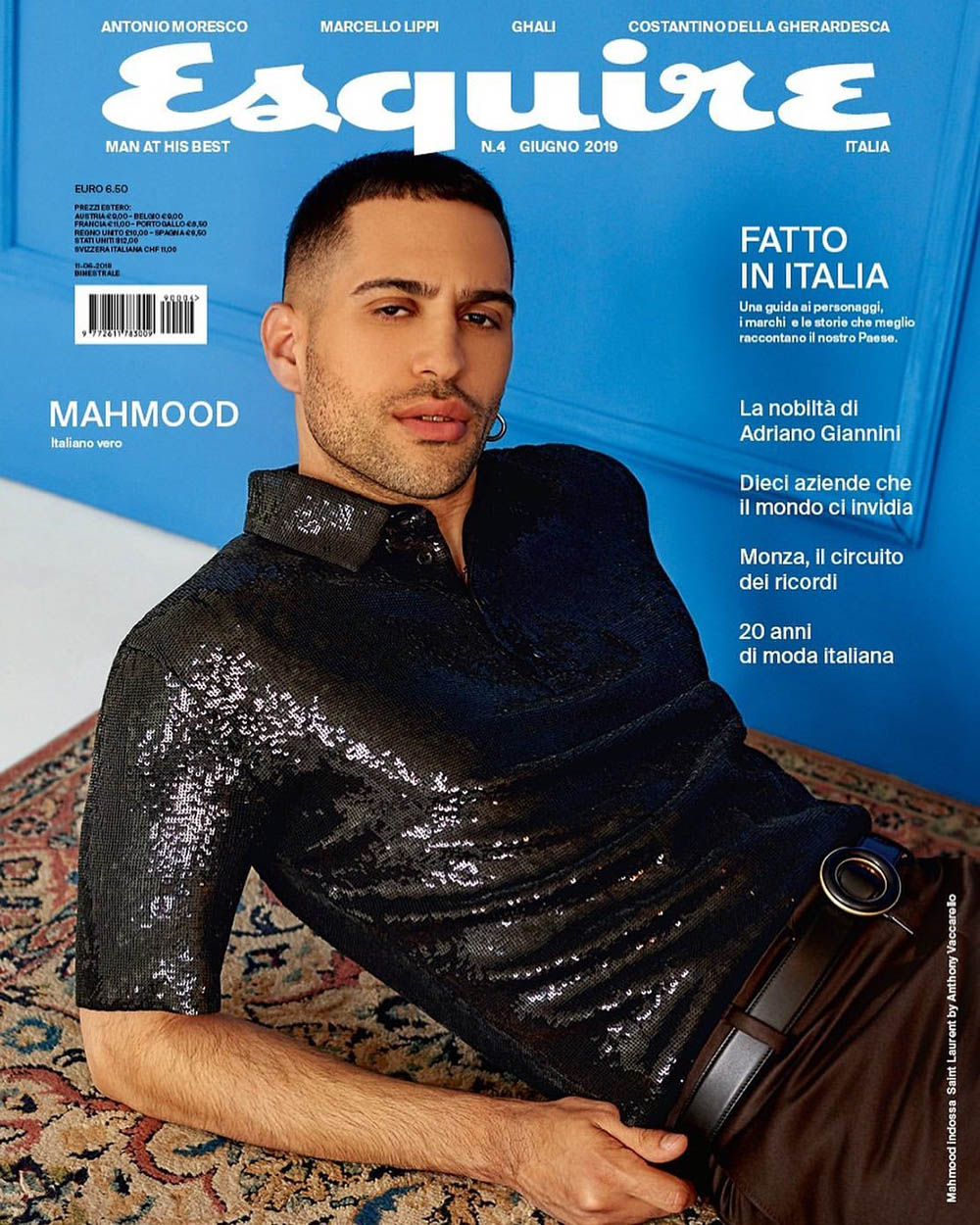 Mahmood covers Esquire Italia June 2019 by Ämr Ezzeldinn