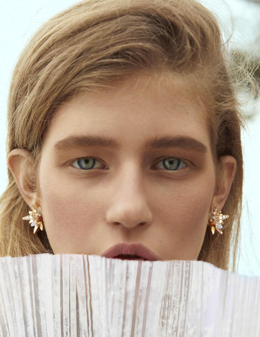 Mariam de Vinzelle covers Vogue Ukraine June 2019 by Leon Mark