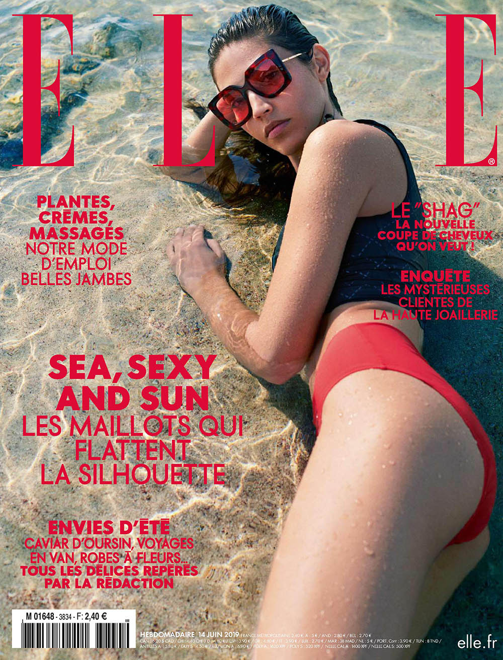 Marilhéa Peillard covers Elle France June 14th, 2019 by Laurie Bartley