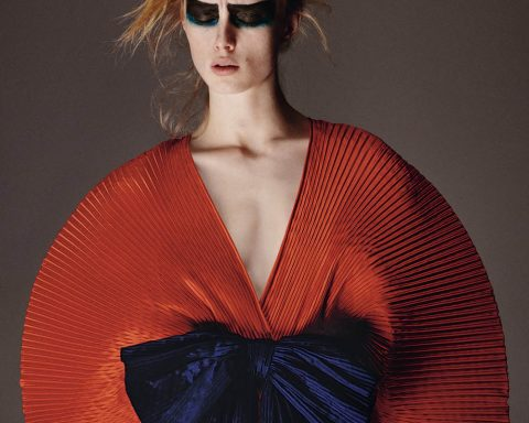Rianne van Rompaey by Theo Sion for British Vogue June 2019