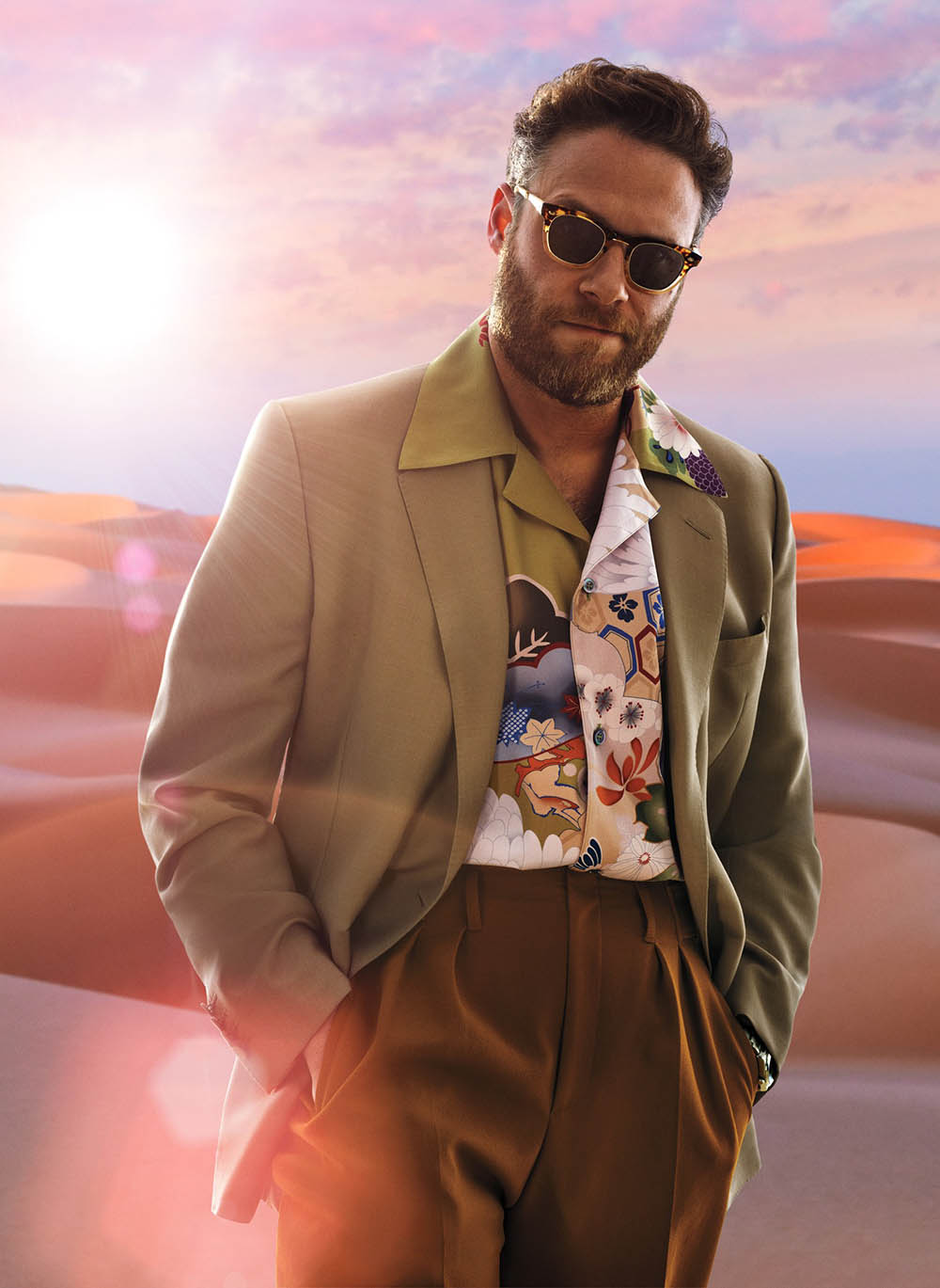 Seth Rogen covers GQ USA June July 2019 by Sebastian Mader