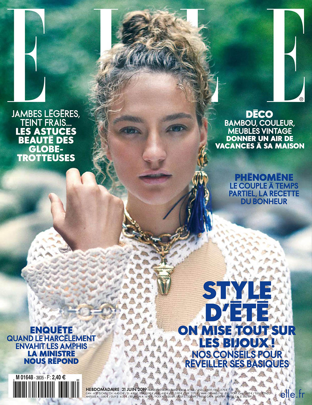 Sophia Ahrens covers Elle France June 21st, 2019 by Laurie Bartley