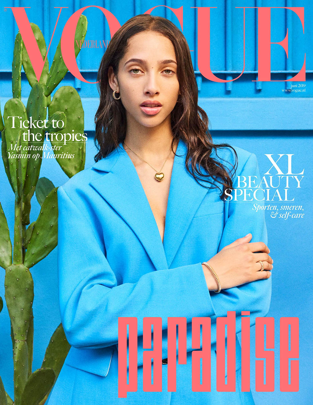 Yasmin Wijnaldum covers Vogue Netherlands June 2019 by Tung Walsh
