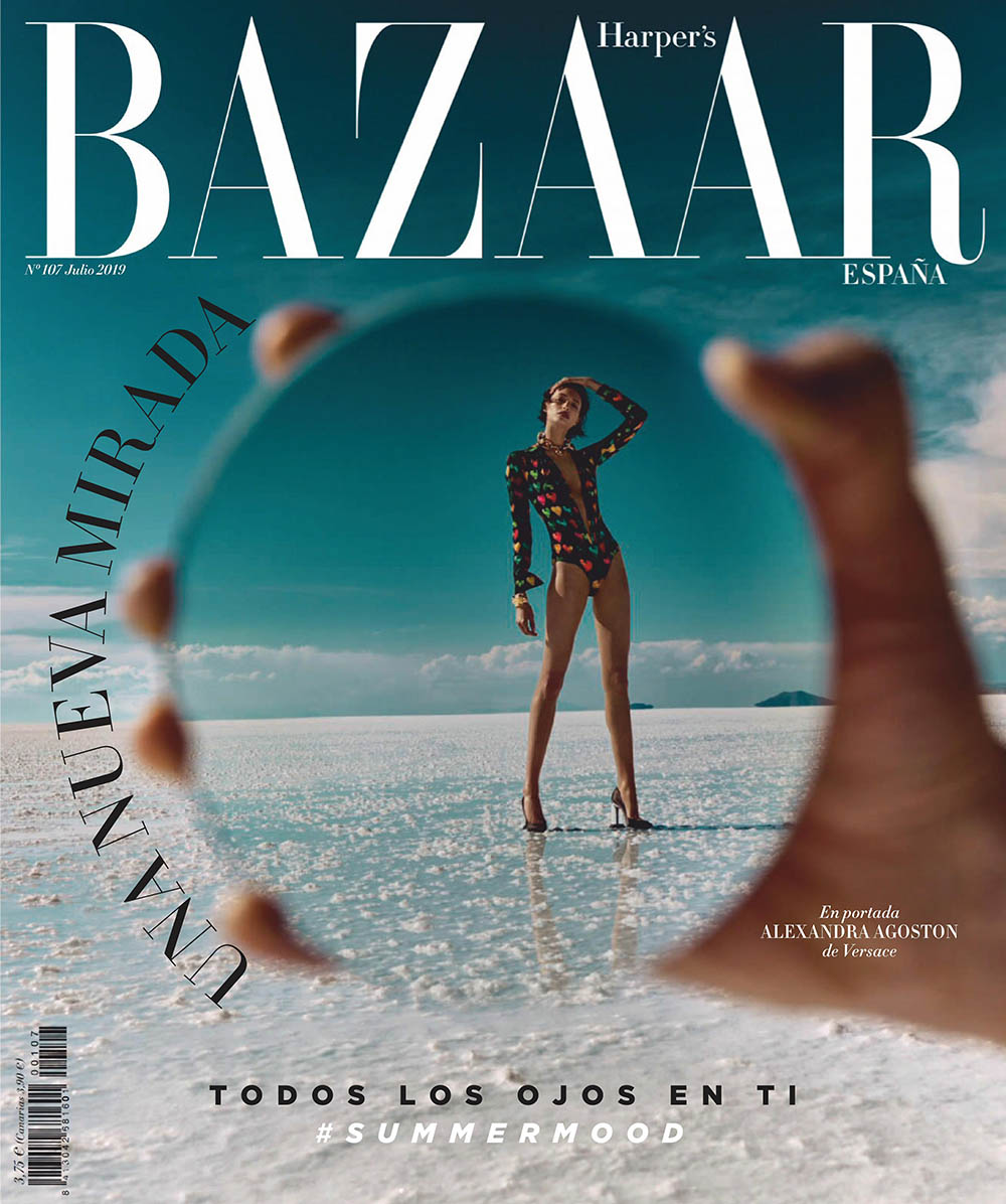 Alexandra Agoston covers Harper's Bazaar Spain July 2019 by Yulia Gorbachenko