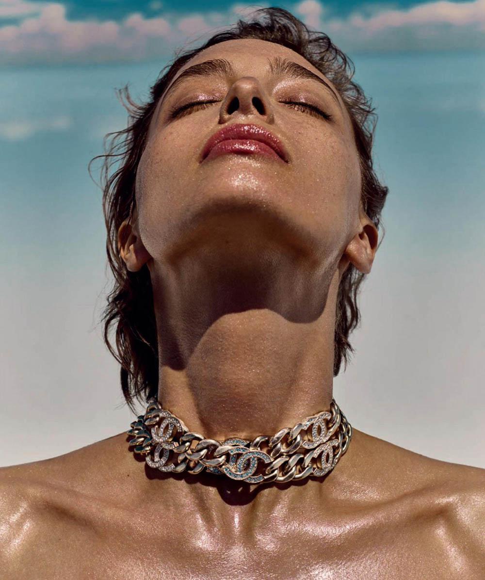 Alexandra Agoston covers Harper's Bazaar Spain July 2019 by Yulia Gorbachenko