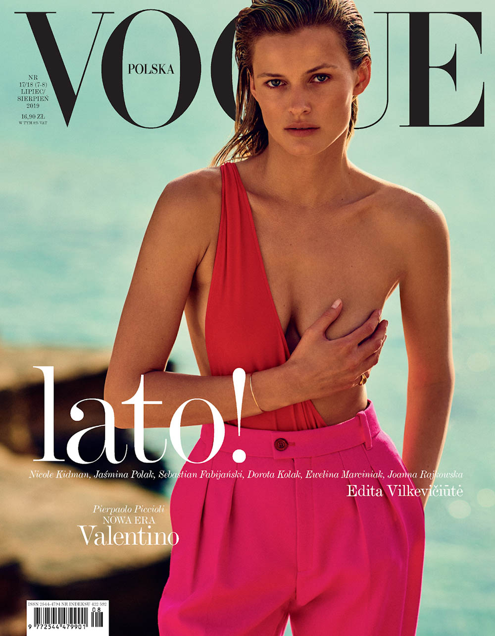 Edita Vilkeviciute covers Vogue Poland July August 2019 by Chris Colls