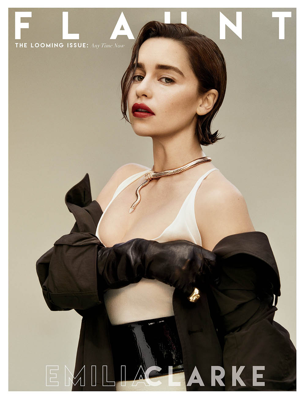 Emilia Clarke covers Flaunt Magazine Issue 166 by Olivia Malone