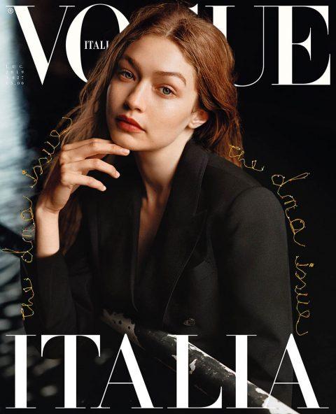 Gigi Hadid covers Vogue Italia July 2019 by Alasdair McLellan