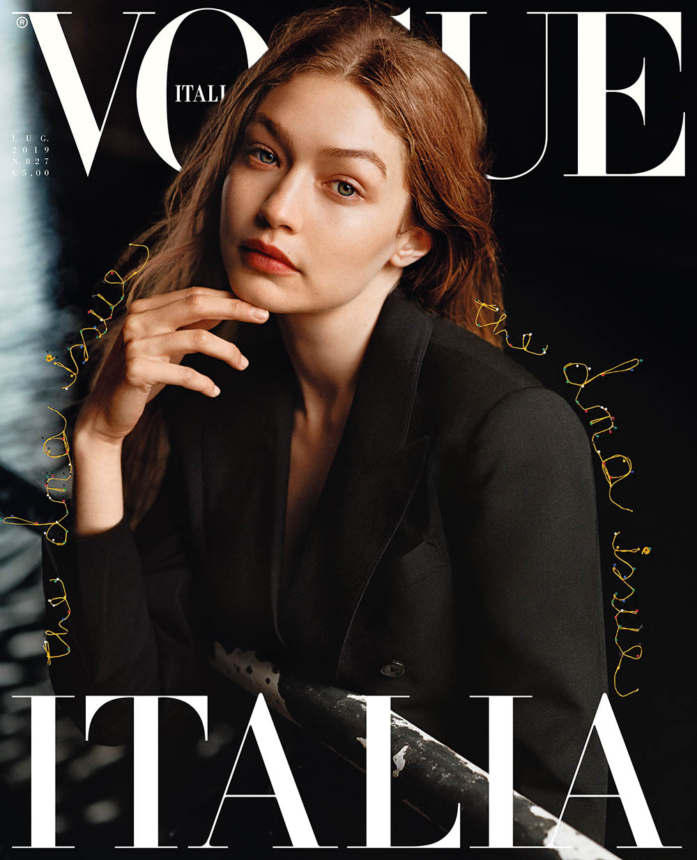 Gigi Hadid covers Vogue Italia July 2019 by Alasdair McLellan