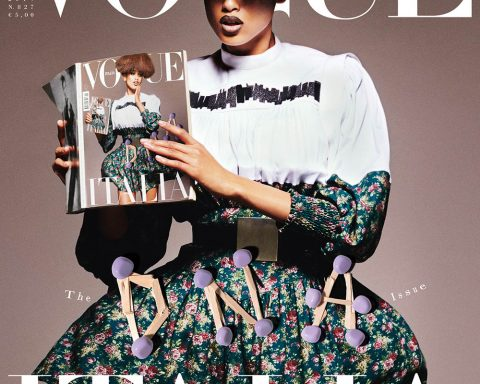 Imaan Hammam covers Vogue Italia July 2019 by Theo Sion
