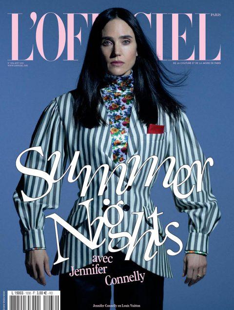 Jennifer Connelly covers L'Officiel Paris August 2019 by Marili Andre