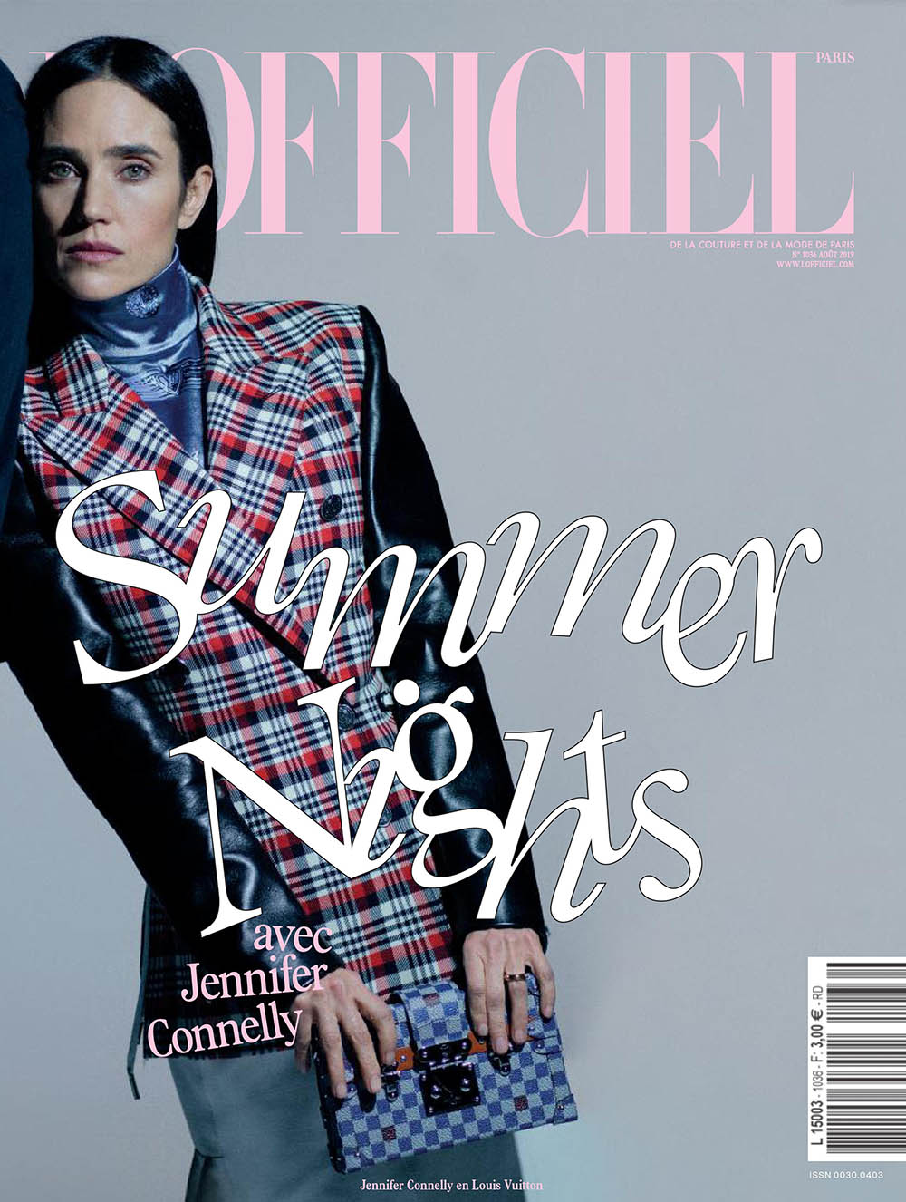 Jennifer Connelly covers L'Officiel Paris August 2019 by Marili Andre