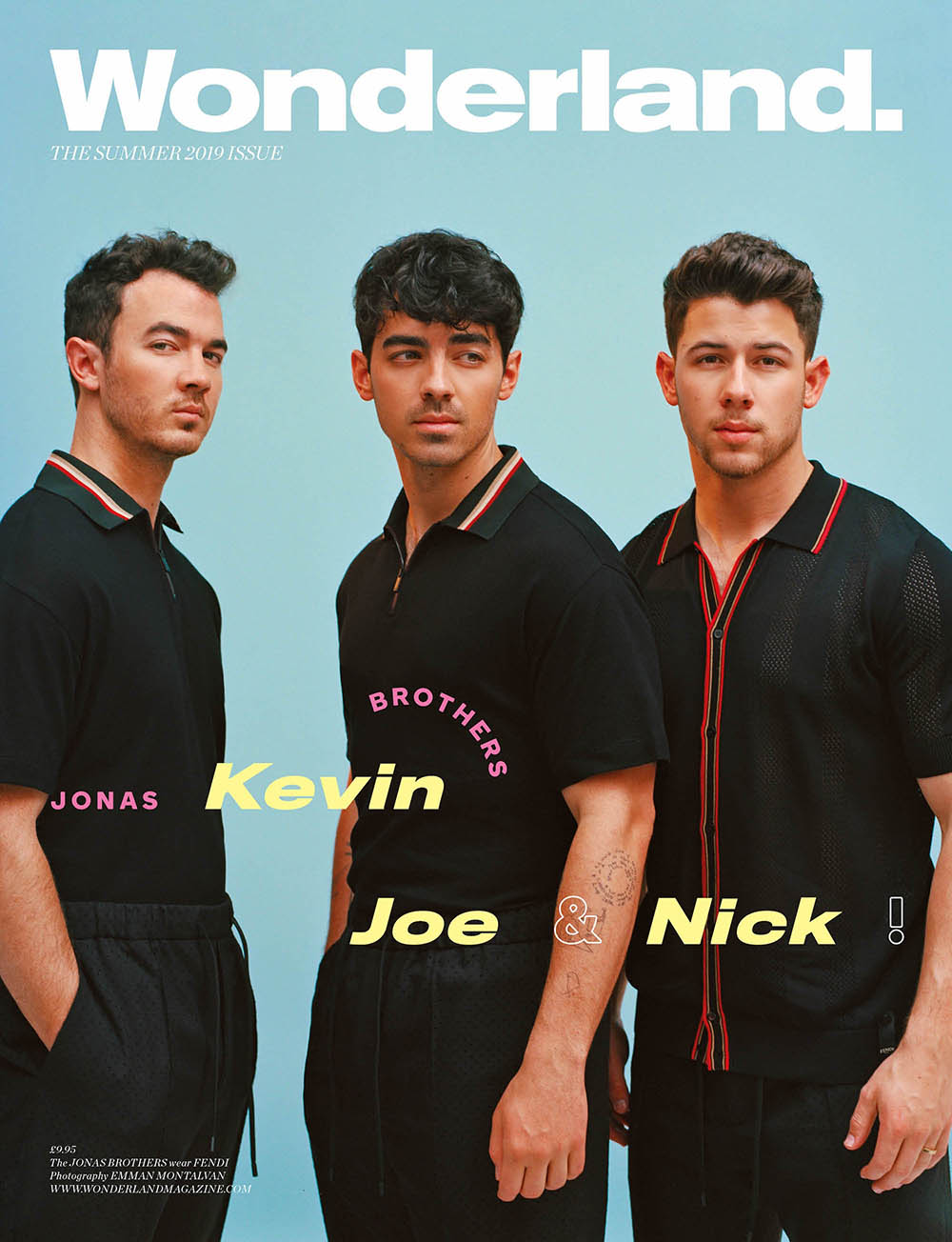 Jonas Brothers cover Wonderland Magazine Summer 2019 by Emman Montalvan